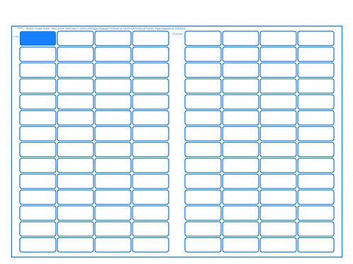 SRA3 Digital Sheets 20x50mm Rectangle 112UP Gloss or Matt
