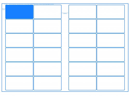 SRA3 Digital Sheets 50x100mm Rectangle 24UP Gloss or Matt