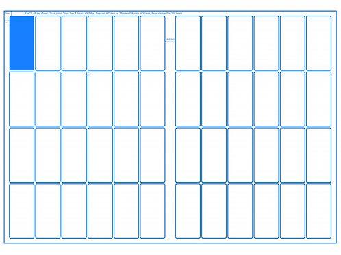 SRA3 Digital Sheets 34x75mm Rectangle 48UP Gloss or Matt