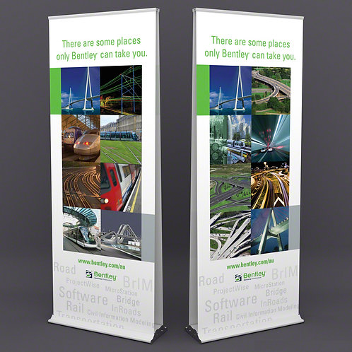 DELUXE DOUBLE SIDED  PULL UP BANNER
