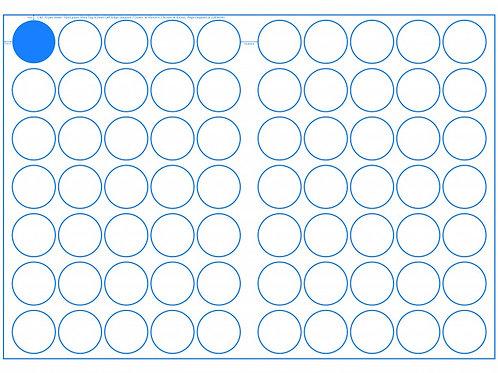 SRA3 Digital Sheets 40mm Circles 70UP Gloss or Matt