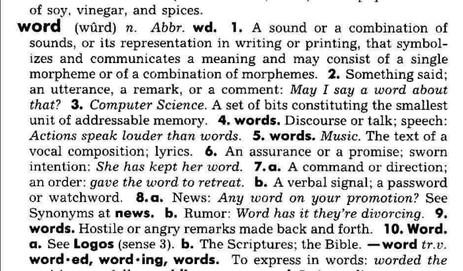Le pouvoir des mots