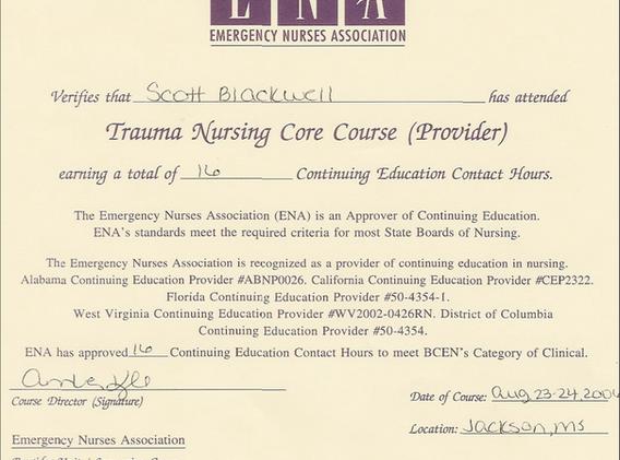 Trauma Certification