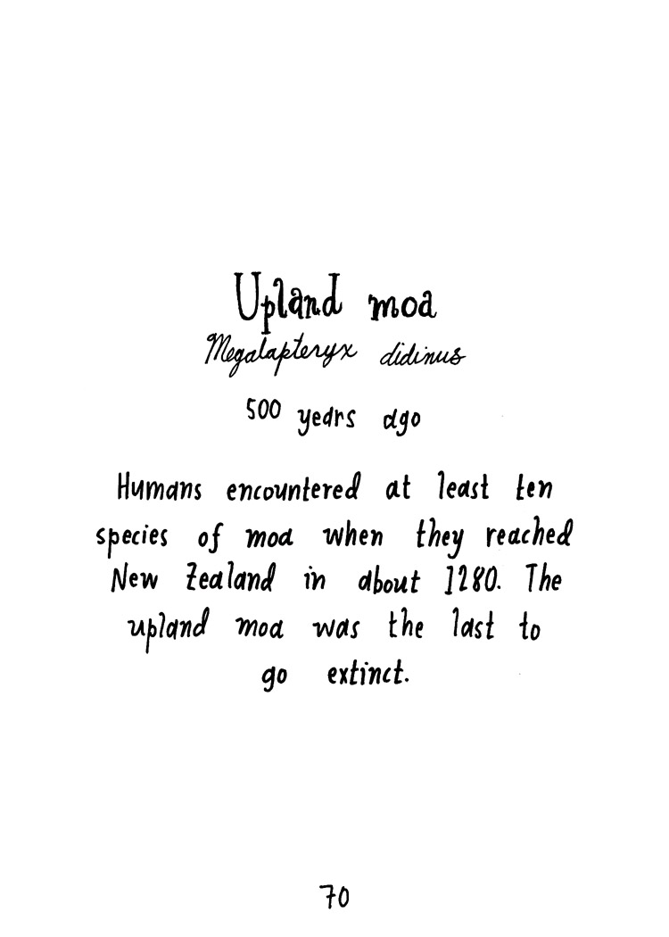 Upland moa (text)