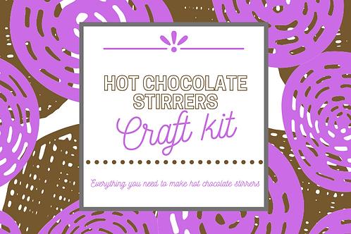 Hot chocolate stirrer kit