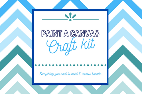 Paint a canvas craft kit
