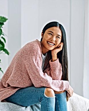 Sourire femme asiatique