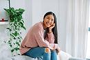 Mujer asiática sonriente