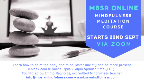 New 8 week Online MBSR course