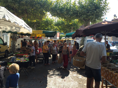 Visit to the local food market