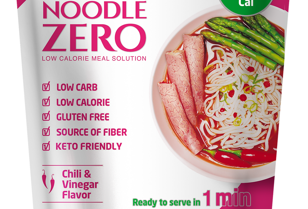 NoodleZero Chilli & Vinegar Flavor (6 Packs)