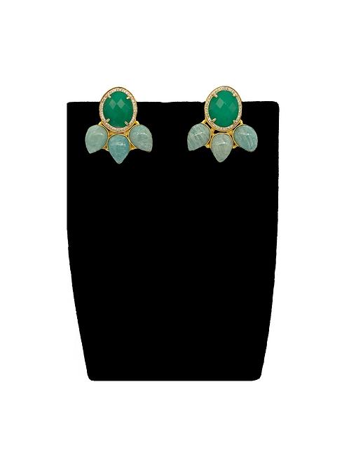 Gina leaf earrings