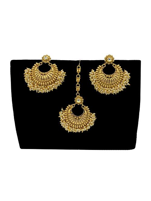 Ramleela earrings and tikka set
