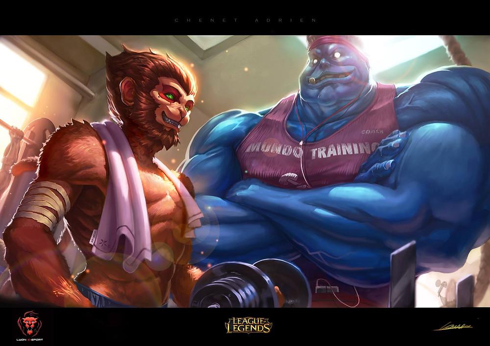 Wukong et Mundo, training de haut niveau (Cred: Chenet A.)
