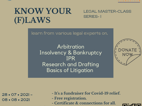 ASDM LEGAL IN SUPPORT OF HEMKUNT FOUNDATION IS ORGANIZING A LEGAL MASTER-CLASS SERIES