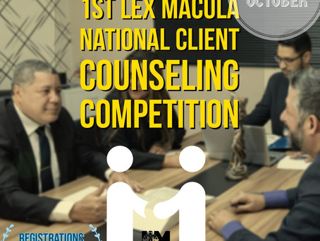 1st LEX MACULA VIRTUAL CLIENT COUNSELLING COMPETITION