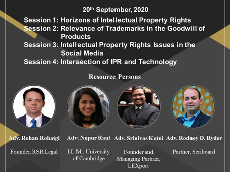 FACULTY DEVELOPMENT PROGRAMME: NEOTERIC CONUNDRUMS OF INTELLECTUAL PROPERTY RIGHTS-20TH SEPTEMBER