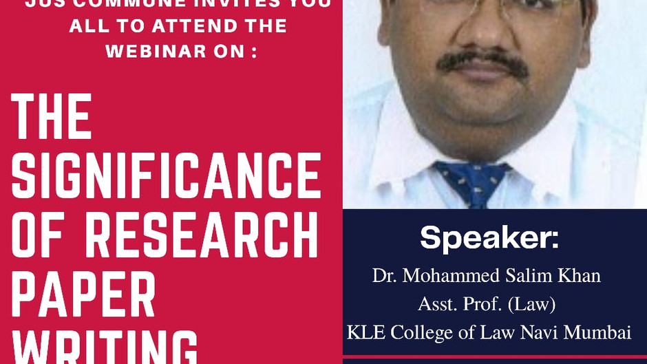 """WEBIMPACT'S WEBINAR ON  """"THE SIGNIFICANCE OF RESEARCH PAPER WRITING IN LEGAL CAREER"""": REGISTER NOW!!"""