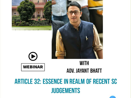 ARTICLE 32 AS THE HEART AND SOUL OF THE CONSTITUTION - A WEBINAR