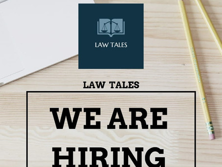CALL FOR RESEARCH DIRECTORS: LAW TALES: APPLY BY 30TH SEPTEMBER 2020