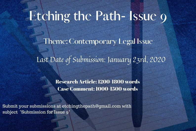 CALL FOR SUBMISSIONS - ETCHING THE PATH