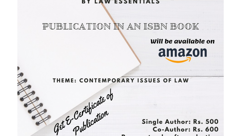 CALL FOR CHAPTERS | A COMPILATION OF LEGAL RESEARCH (EDITION 2)