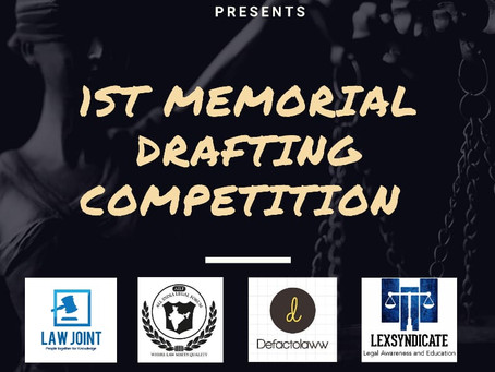 VALOREM LAW - 1ST NATIONAL MEMORIAL DRAFTING COMPETITION