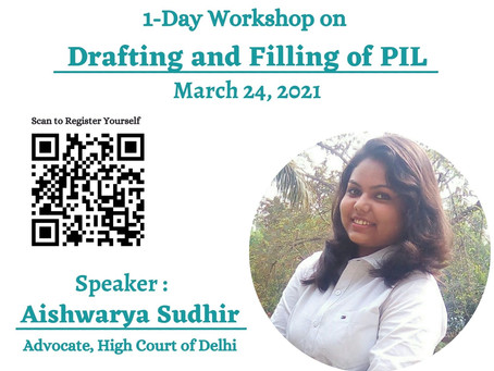 ONE DAY WORKSHOP ON DRAFTING AND FILING OF PIL BY E-JUSTICE INDIA