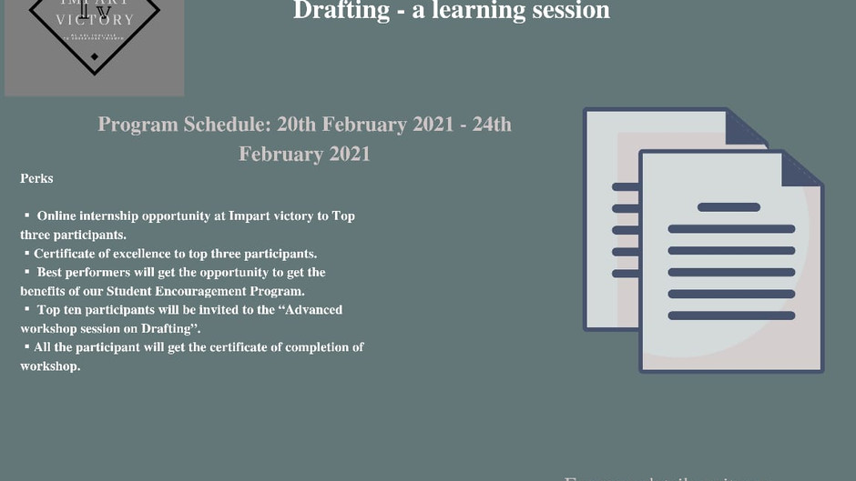 IMPART VICTORY PRESENTS WORKSHOP CUM LEARNING SESSION – A DIRECT APPROACH TO AGREEMENT DRAFTING