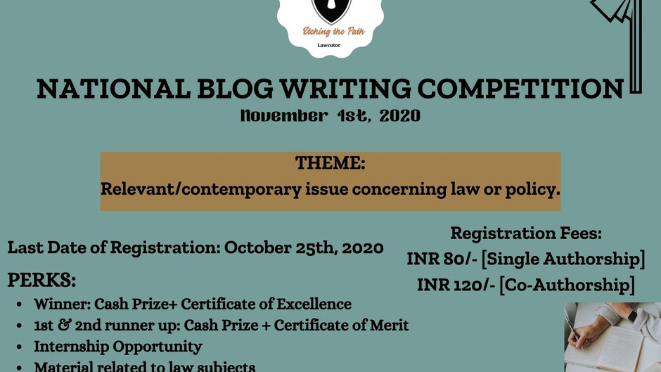 NATIONAL BLOG WRITING COMPETITION BY ETCHING THE PATH: REGISTER BY 25/10/2020