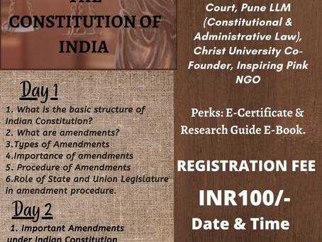 WORKSHOP ON THE IMPORTANT AMENDMENTS OF THE CONSTITUION OF INDIA