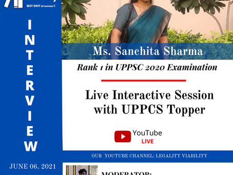 11TH LIVE INTERACTIVE SESSION WITH UPPCS TOPPER 2020