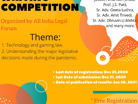 ALL INDIA LEGAL FORUM PRESENTS BLOG WRITING COMPETITION