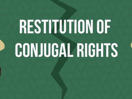 EXECUTION OF RESTITUTION OF CONJUGAL RIGHTS