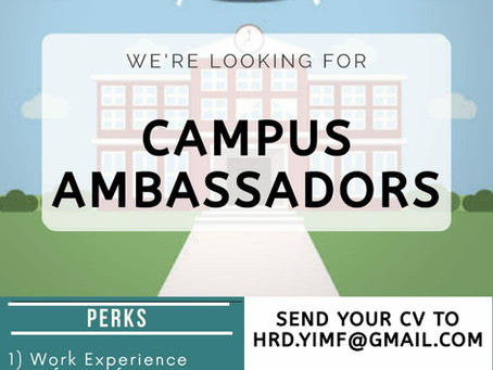 CALL FOR CAMPUS AMBASSADORS BY YOUNG IGNITED MINDS FOUNDATION