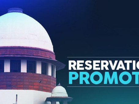RESERVATION IN PROMOTION
