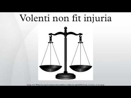 DEFENCE OF CONSENT IN TORT LAW VIS-À-VIS VOLENTI NON-FIT INJURIA