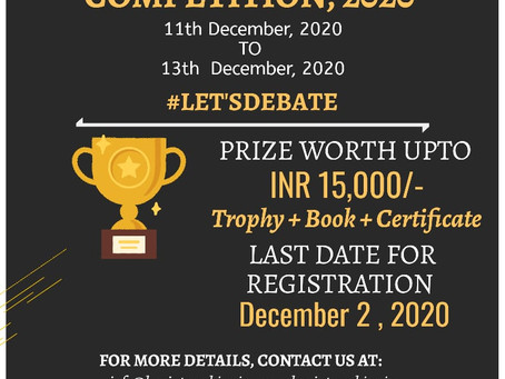 LAWINTERNSHIPS NATIONAL VIRTUAL DEBATE COMPETITION, 2020