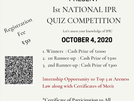 TLG'S 1ST NATIONAL IPR QUIZ COMPETITION