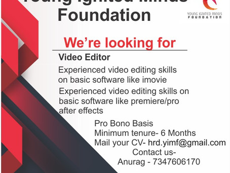 YIMF CALL FOR  VIDEO EDITORS