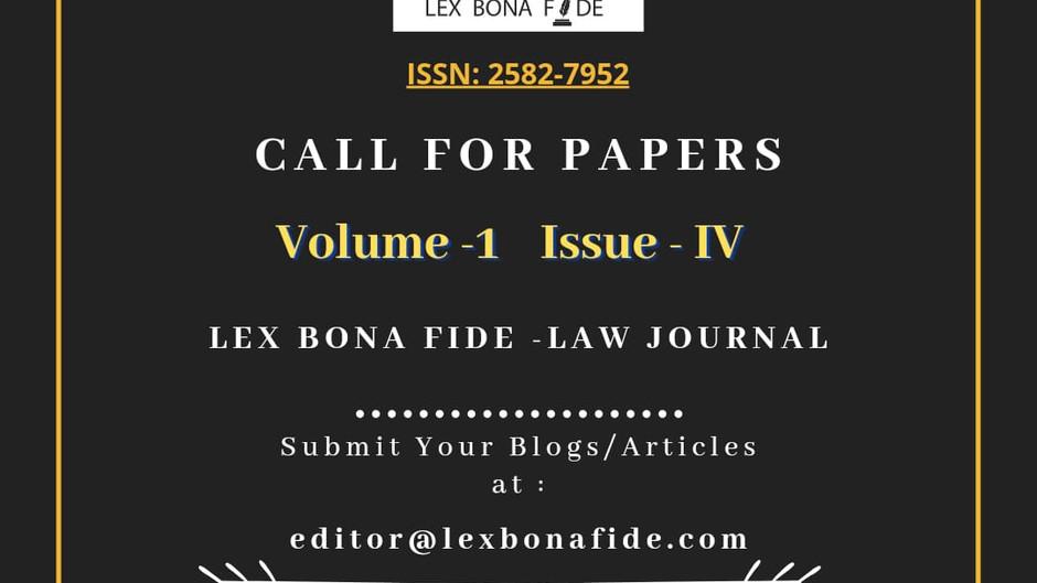 LEX BONA FIDE- LAW JOURNAL