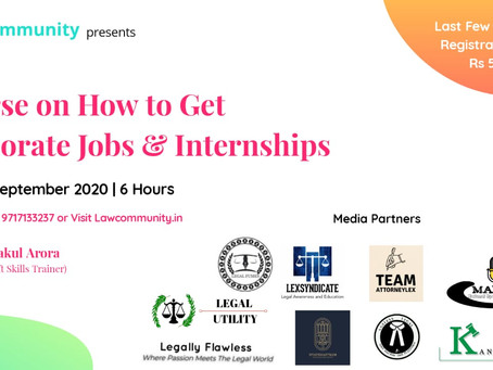 COURSE ON HOW TO GET CORPORATE JOBS & INTERNSHIP