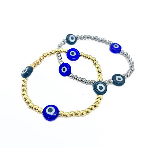 Evil Eye Bead Bracelets