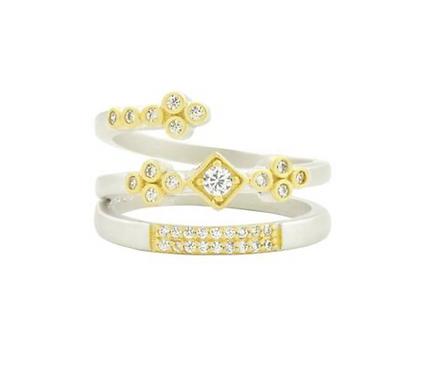 Freida Rothman Fleur Bloom Spiral Ring