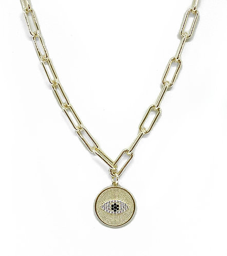 Chunky Gold Eye Necklace