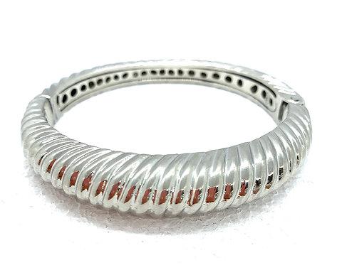 Silver Hinge Cable Bangle