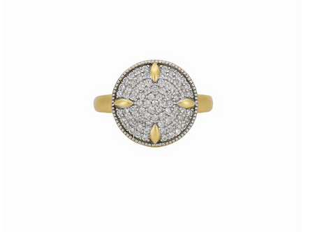 Freida Rothman Petals and Pave Cocktail Ring