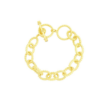 Freida Rothman Textured Heavy Link Toggle Bracelet