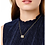 Thumbnail: Freida Rothman Midnight Two tone 3 Ring Necklace
