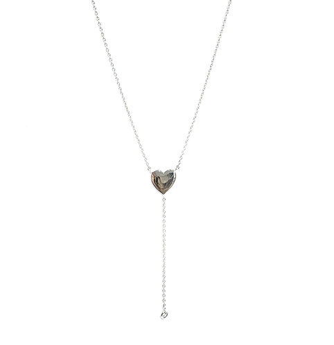 Hanging Heart Lariat Necklace